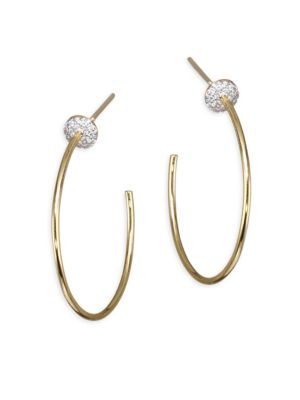 Affair Diamond Infinity Micro Disc Hoop Earrings/1.25