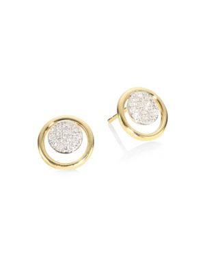 Affair Diamond Micro Infinity Loop Stud Earrings