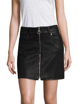Bodycon Coated Mini Skirt