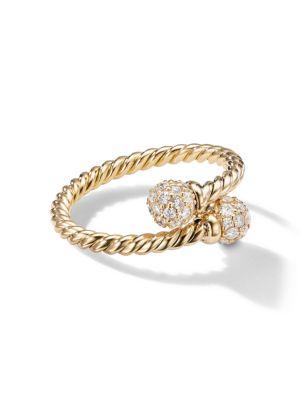 Solari Bypass Diamond & 18K Yellow Gold Ring