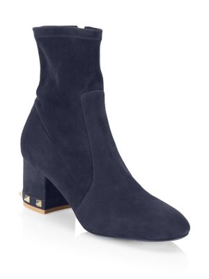 Stretch Suede Booties