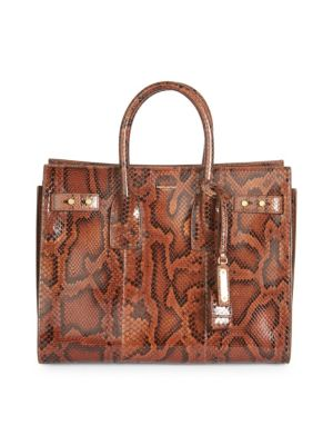 Small Sac De Jour Python Carryall Bag