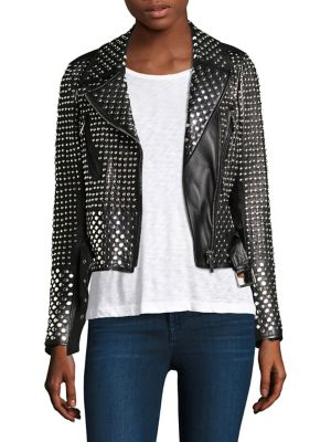 Vosges Studded Perfecto Leather Jacket