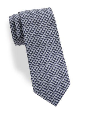 Rabbits Silk Tie
