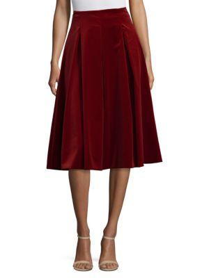 Gioia Full Pleated Velvet Skirt