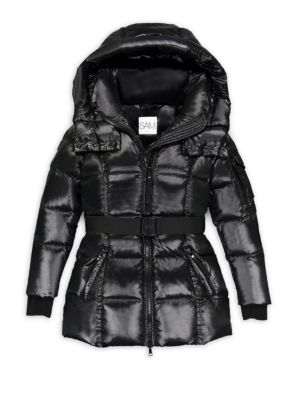 Girl's Soho Belted Puffer Hoodie