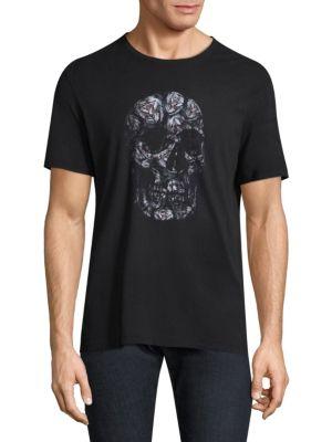 Skull-Print Cotton Tee