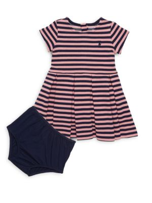 Baby's Cotton Dress with Bloomer