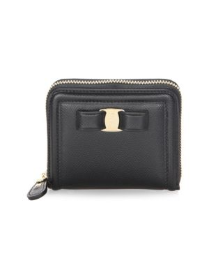 French Leather Zip-Around Wallet