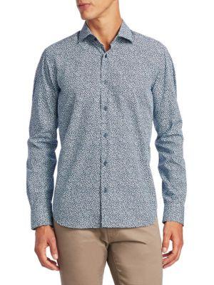 COLLECTION Mosaic Cotton Button-Down Shirt