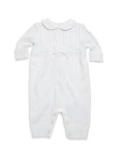 폴로 랄프로렌 여아용 아기 커버올 우주복 Polo Ralph Lauren Babys Coverall,White
