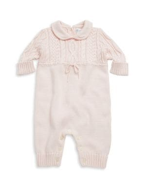 Baby Girl's Cable-Knit Coverall