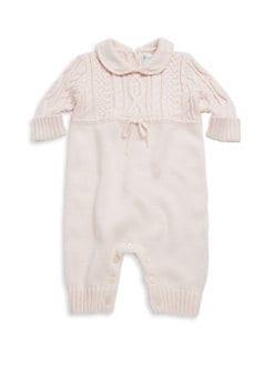 폴로 랄프로렌 여아용 아기 커버올 우주복 Polo Ralph Lauren Babys Cable-Knit Coverall,Pink