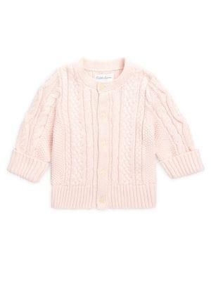 Baby Girl's Aran-Knit Cardigan