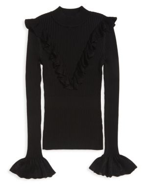 Ruffle Mockneck Sweater