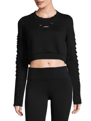 Ripped Warrior Long-Sleeve Top by Alo Yoga