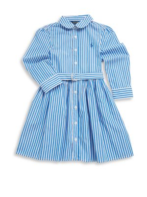 Toddler's, Little Girl's & Girl's Bengal Striped Fit-&-Flare Dress