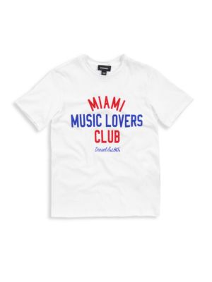 Boy's Music Lovers Club Cotton Tee