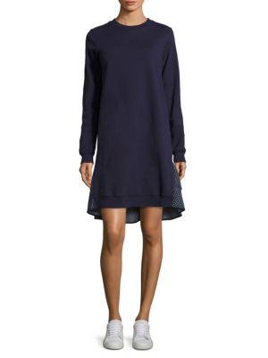 Ruffled Sweatshirt Cotton Dress