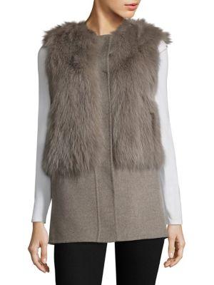 Fox Fur & Wool Vest