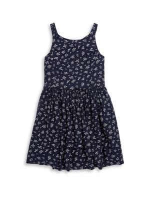 Toddler's, Little Girl's & Girl's Floral Fit-&-Flare Dress