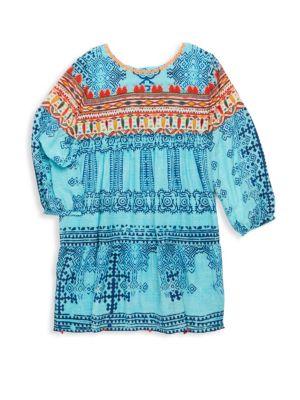 Toddler's, Little Girl's & Girl's Printed Silk Crepe Tunic Dress