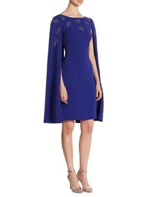 Embellished Cape Dress