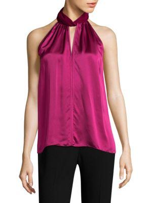 Elastia Halterneck Silk Blouse