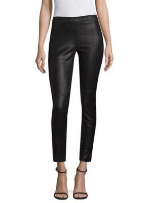 Roxanna Leather Printed Pants