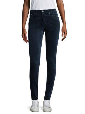 Farrah Velvet High-Rise Pants