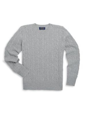 Boy's Cable-Knit Cashmere Sweater