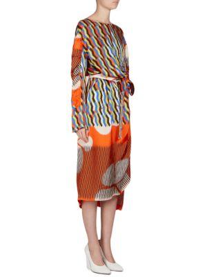 Ruched Geometric Dress