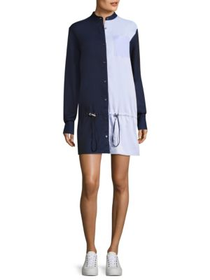 Masika Colorblock Cotton Shirt Dress