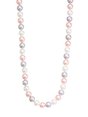 8mm Tri-Tone Pearl Necklace