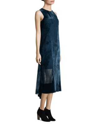 Sleeveless Burnout Velvet Dress