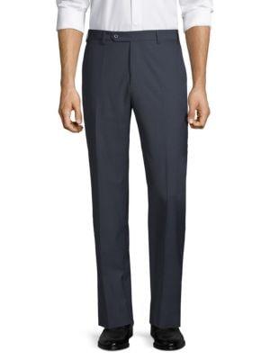 ZANELLA Devon Straight-Fit Wool Trousers