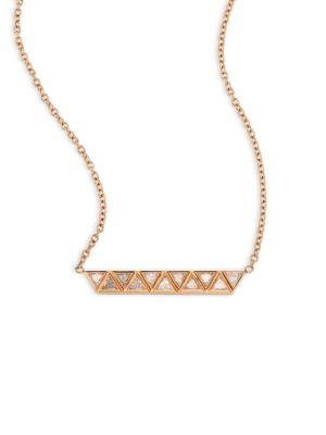 Chloe Diamond & 18K Pink Gold Necklace