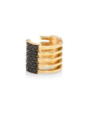 Izzy Reversible Diamond & 18K Yellow Gold Earcuff