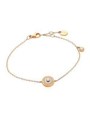 Coco Femme 18K Rose Gold & White Agate Chain Bracelet