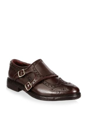 Del Mar Monk-Strap Leather Loafers