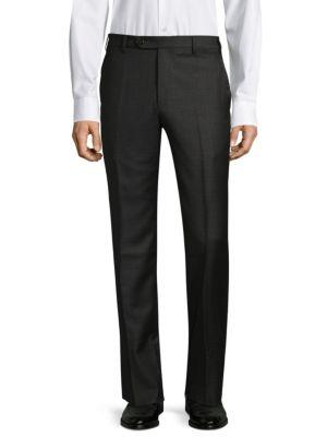 Devon Straight Wool Trousers