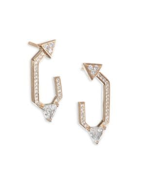 NIKOS KOULIS Diamond 18K Yellow Gold V Earrings