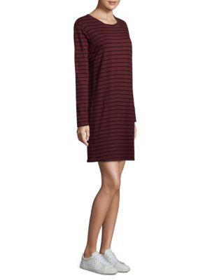 Striped Shift Cotton Dress