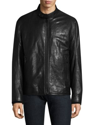 French Supple Leather Racer Motorcycle Jacket