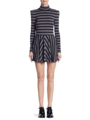 Striped Mockneck Dress