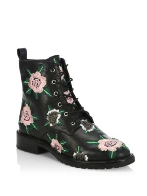 Gerry Embroider Leather Booties