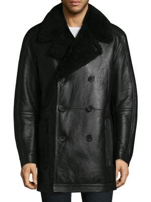 Frontier Shearling Double Breasted Jacket