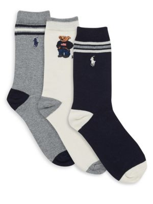 Little Boy's & Boy's Three-Pair St. James Striped Socks