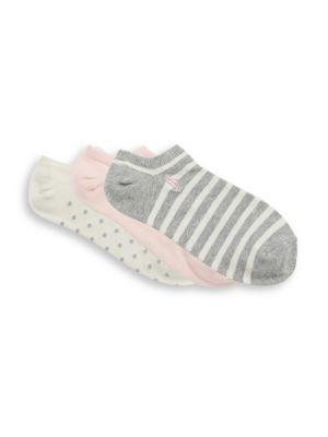 Girl's Stripe Dot Socks/3-Pack
