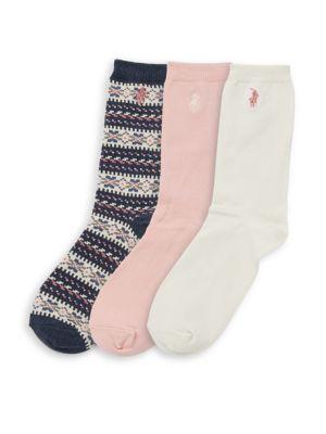 Girl's Fair Isle Trouser Socks/3-Pack